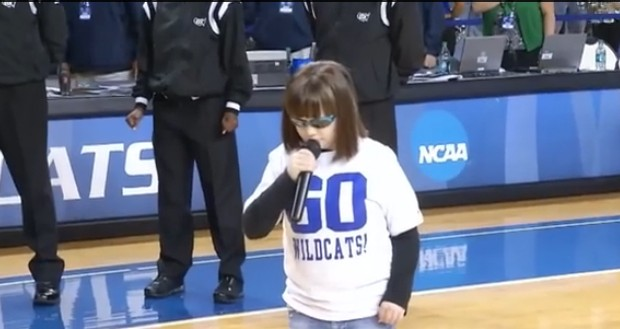 You have got to see this little girl with Autism sing the National Anthem.