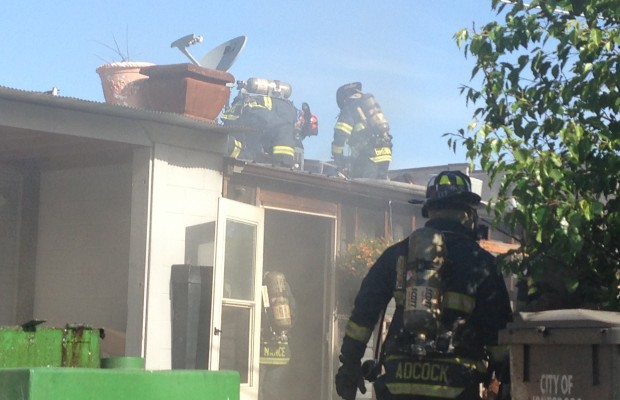 Fire Erupts On Back Of Godsey's Restaurant