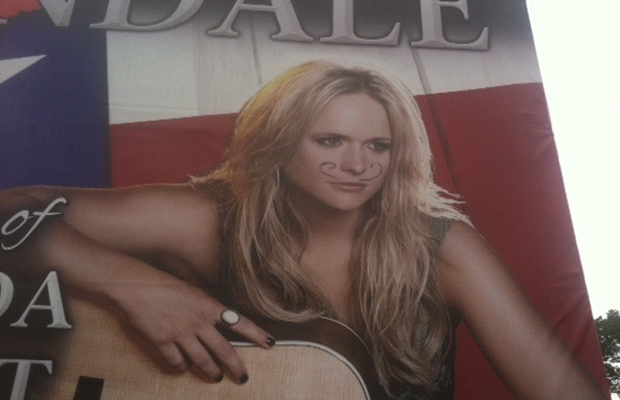 Miranda Lambert Billboard Vandalized